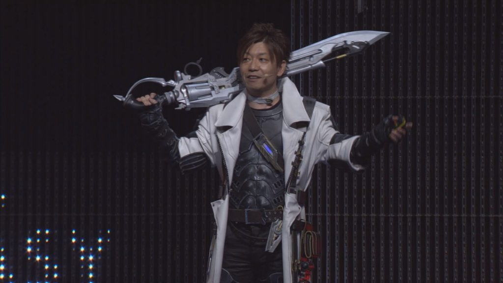 Naoki Yoshida si è davvero presentato in cosplay della nuova classe alla presentazione del trailer di lancio.